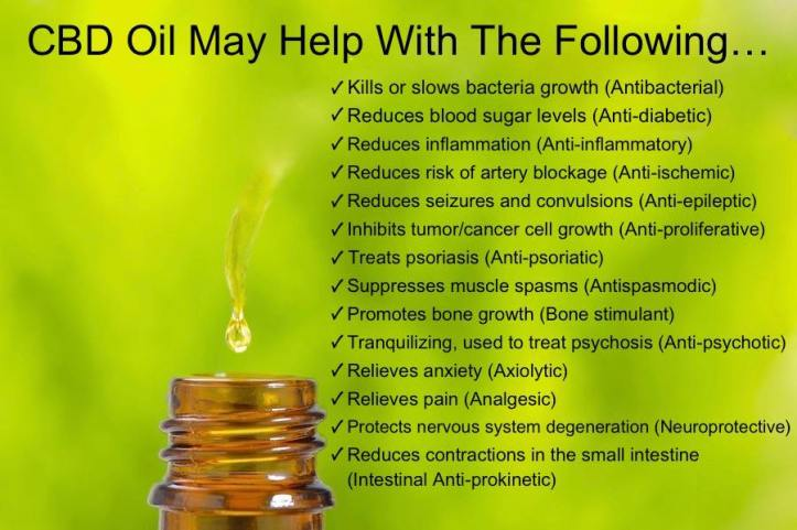 CBD Oil May Help With The Following